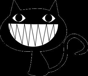 cat laughing