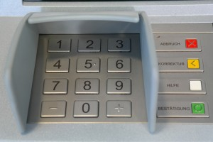 Entry keypad for ATM