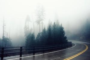 rainy cold scene