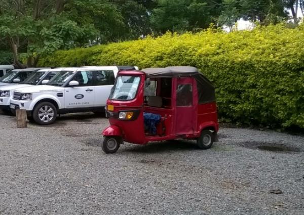 African 3-wheeler car, called Tuk Tuk