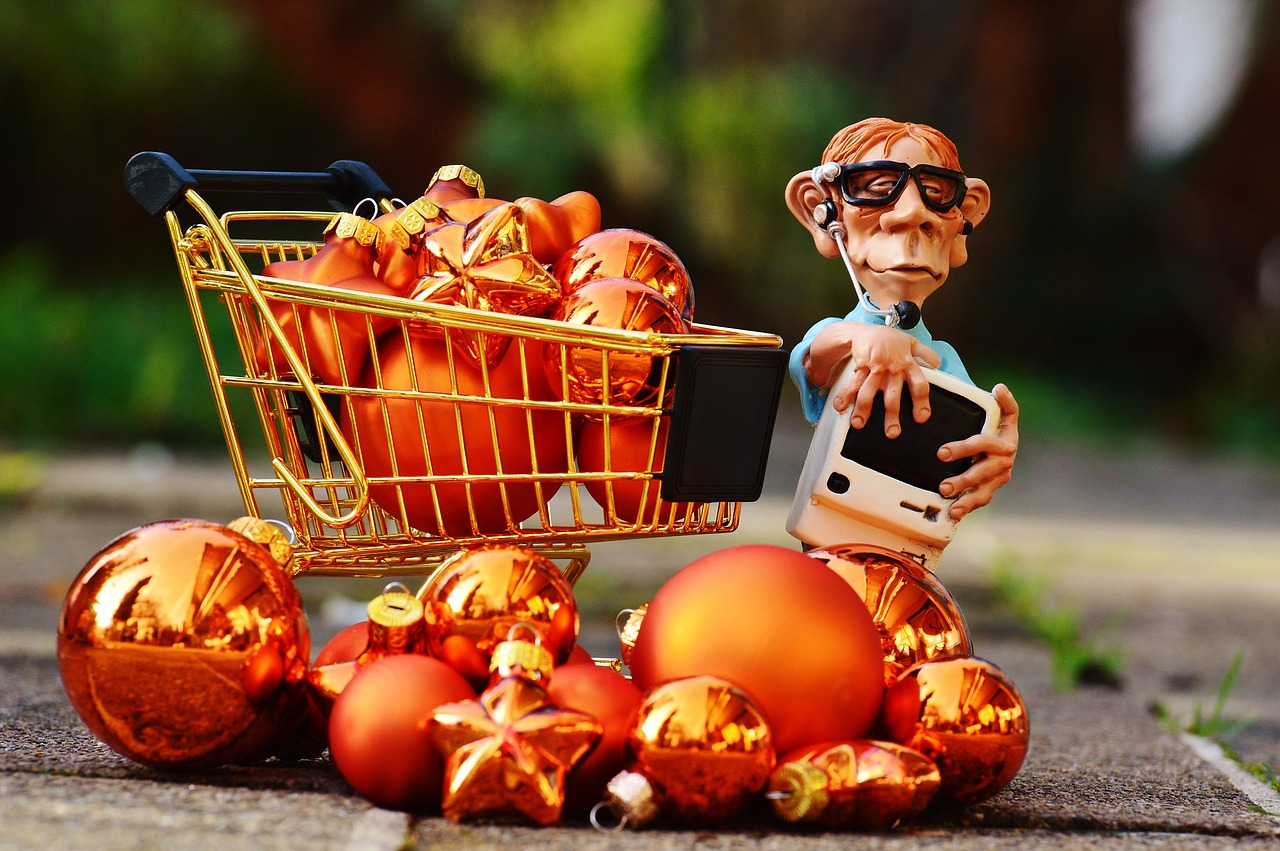toy shopping cart overflowing
